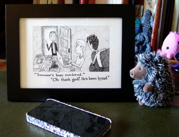 Giant Rats of Sumatra, page 2: Murder? Good. framed art by Amy Crook