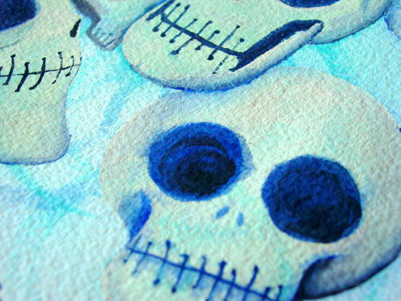 7 Skulls, detail, by Amy Crook