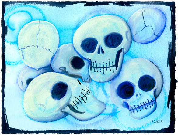 7 Skulls by Amy Crook