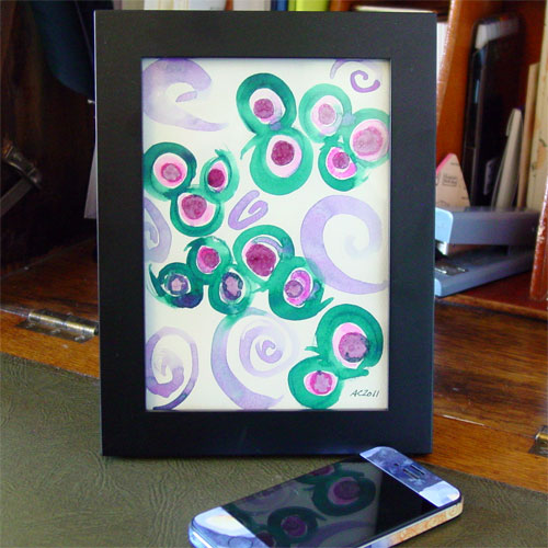 7 Spirals, framed art by Amy Crook