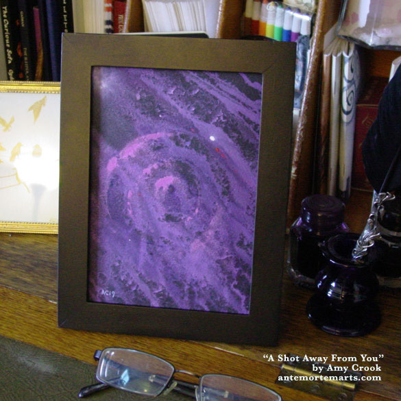 A Shot Away From You, framed art by Amy Crook