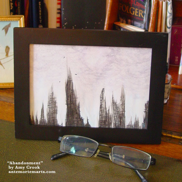 Ruins, framed art by Amy Crook