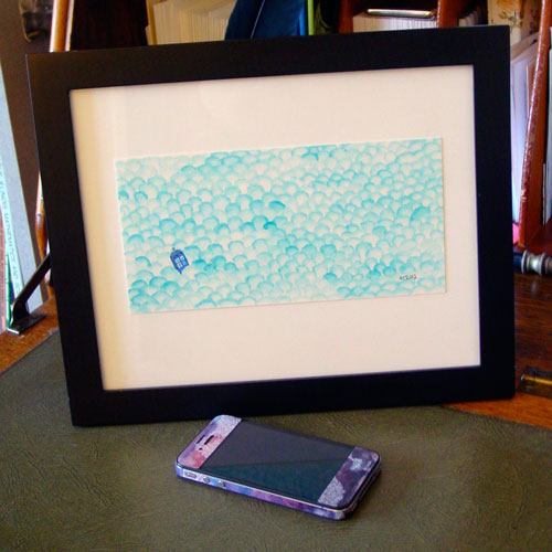 Adrift, framed, by Amy Crook