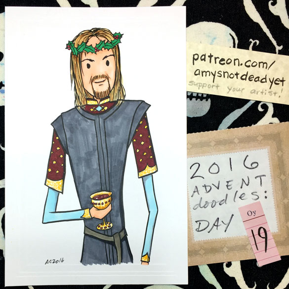 Advent 2016 day 19: Boromir, Lord of the Rings parody art