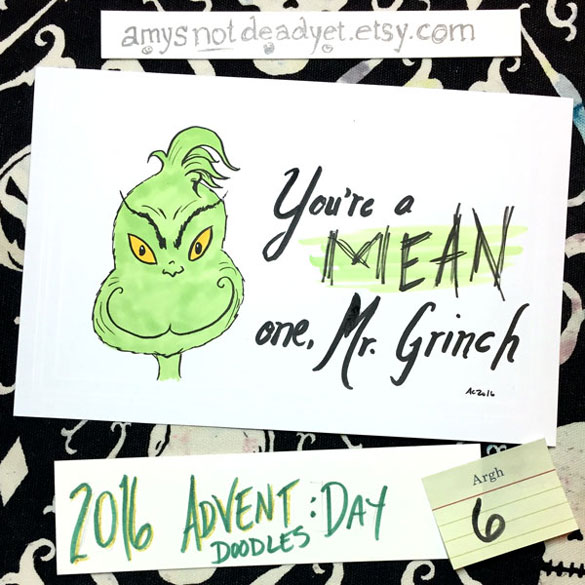 Advent 2016 day 6: Grinch