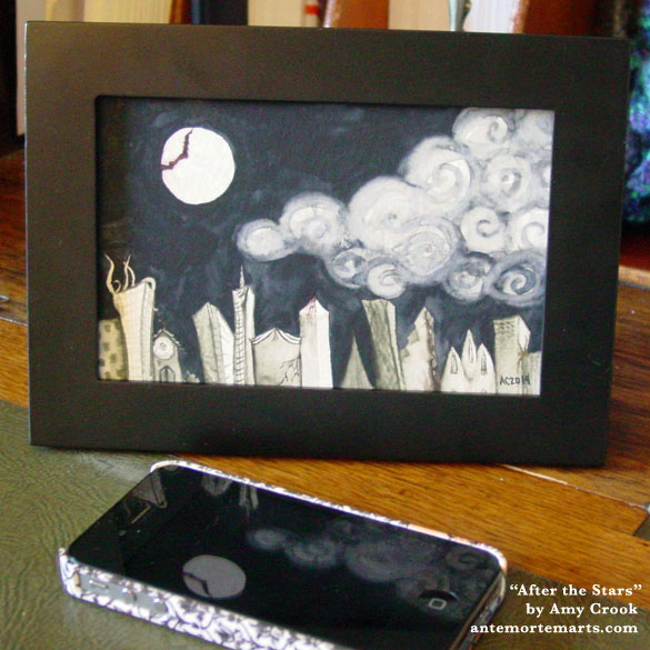 After the Stars, framed art by Amy Crook