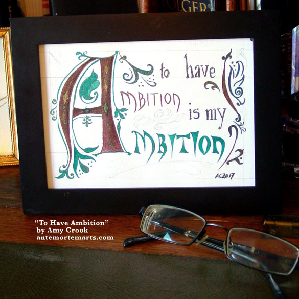 To Have Ambition, framed art by Amy Crook