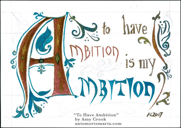 To Have Ambition, word art by Amy Crook
