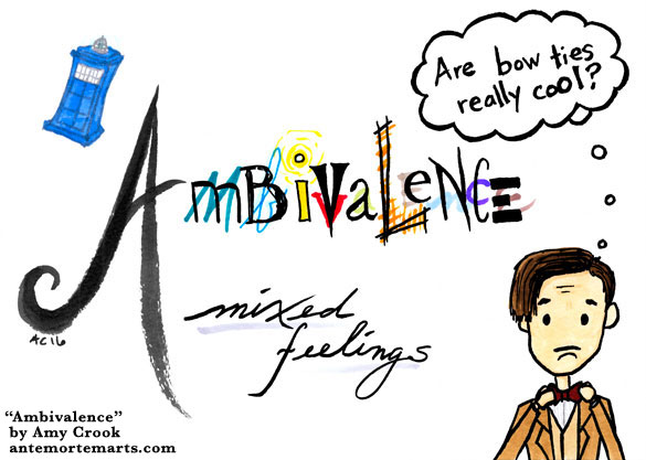 Ambivalence, Doctor Who word art by Amy Crook