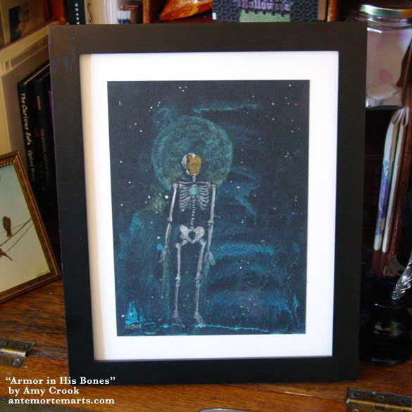 Armor in His Bones, framed art by Amy Crook