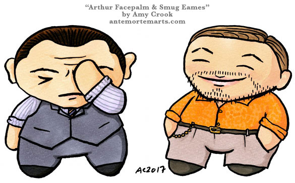 Arthur Facepalm & Smug Eames, chibi emoji by Amy Crook