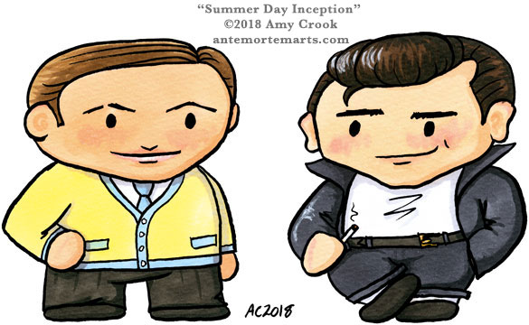 Summer Day Inception, a Grease parody of Inception with chibis, by Amy Crook
