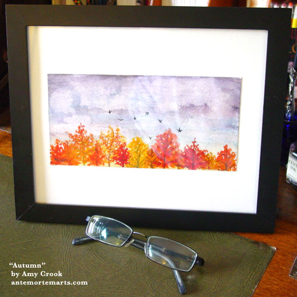 Autumn, framed art by Amy Crook
