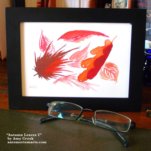 Autumn Leaves 2, framed art by Amy Crook