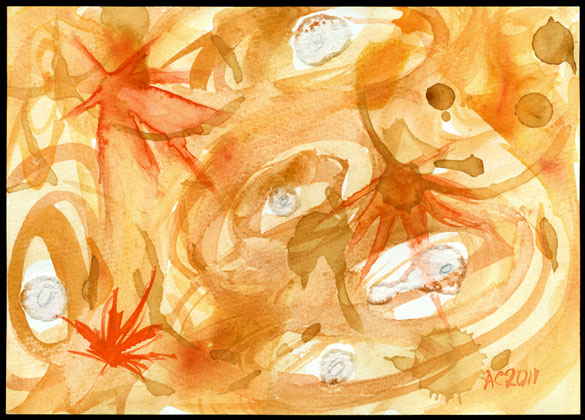 Autumn Winds, abstract art by Amy Crook