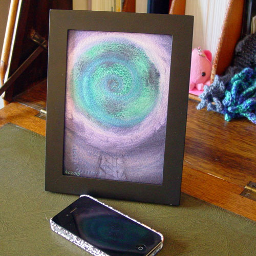 Beacon, framed art by Amy Crook