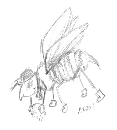 Bee of Whimsy sketch by Amy Crook