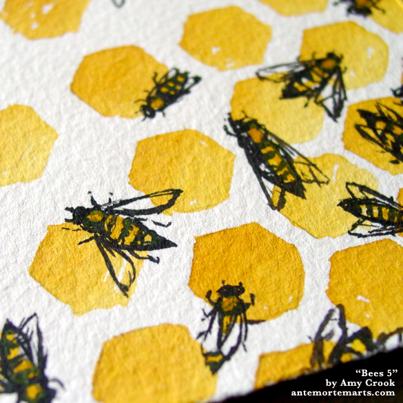 Bees 5, detail, by Amy Crook