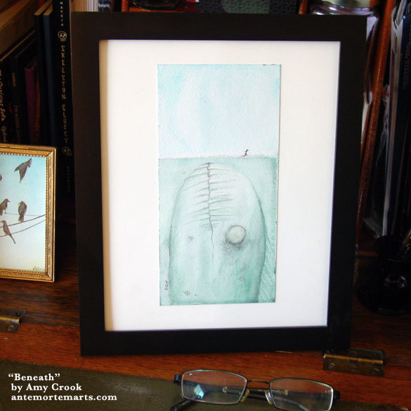 Beneath, framed art by Amy Crook