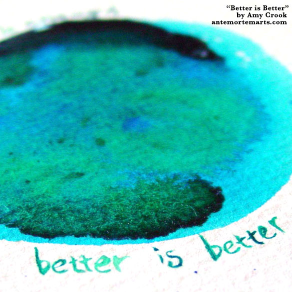 Better is Better, detail, by Amy Crook