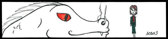 Bilbo & Smaug Bookmark 1 by Amy Crook