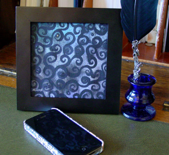 Black Iron Filigree, framed art by Amy Crook
