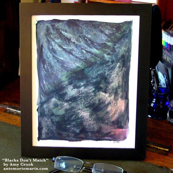 Blacks Don't Match, framed art by Amy Crook