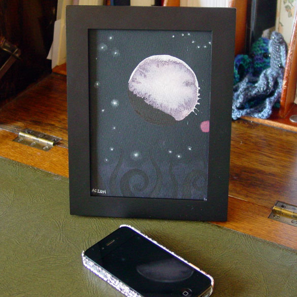 Blood Moon 5, framed art by Amy Crook
