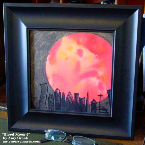 Blood Moon 6, framed art by Amy Crook