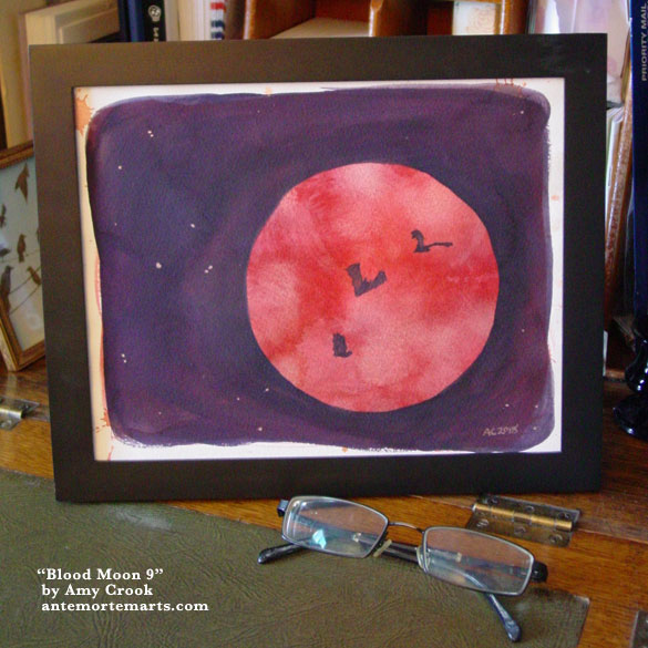 Blood Moon 9, framed art by Amy Crook