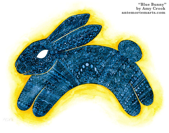 Blue Bunny by Amy Crook