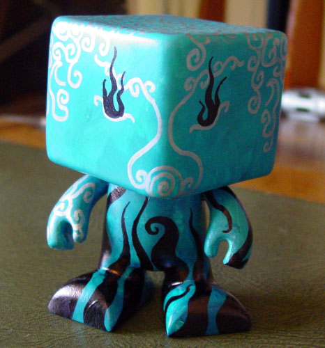 Blue Dude of the Deeps, vinyl toy customized by Amy Crook