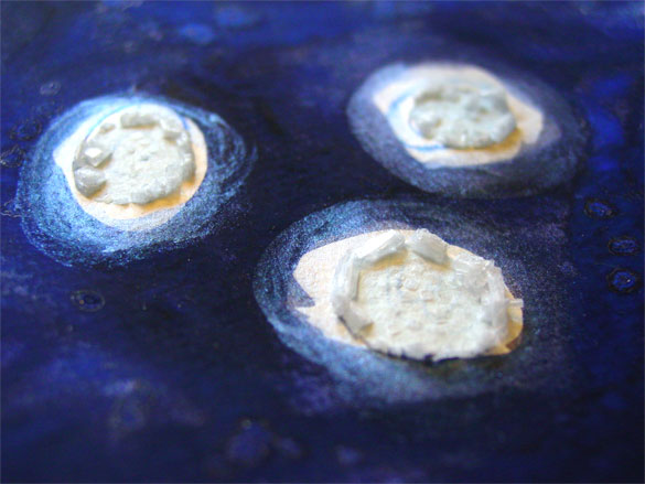 Blue Moon, detail 1, by Amy Crook