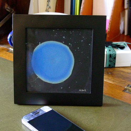 Blue Planet 1, framed art by Amy Crook