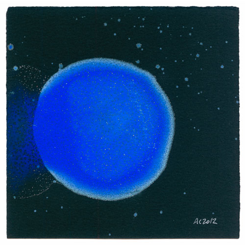 Blue Planet 1, watercolor by Amy Crook