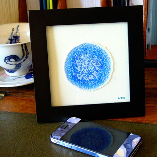 Blue Planet 4, framed art by Amy Crook