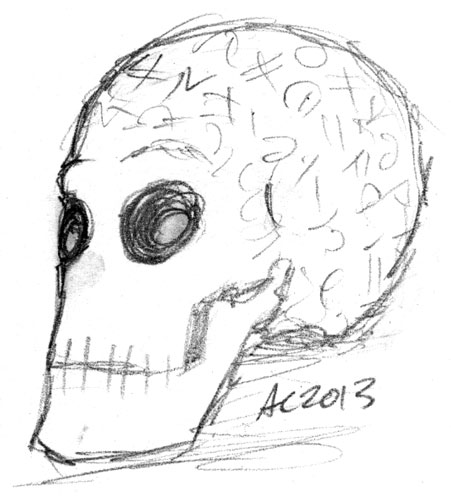 Bob the Skull sketch by Amy Crook