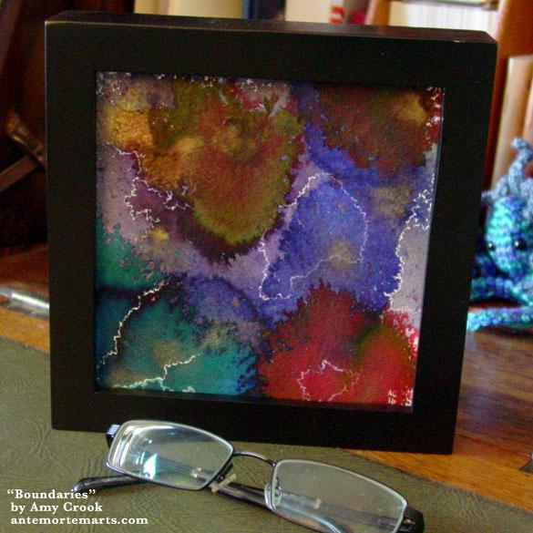 Boundaries, framed art by Amy Crook