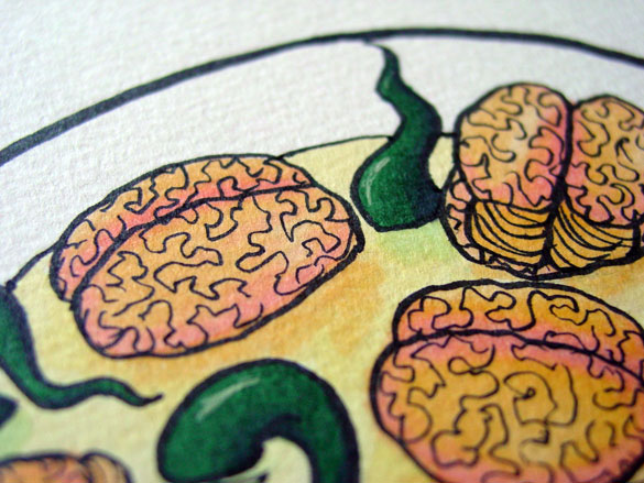 Brainton Soup, detail, by Amy Crook
