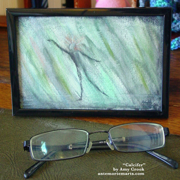 Calcifer, framed art by Amy Crook