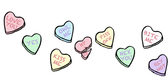 Harry & Snape's Candy Hearts