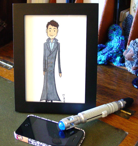 Captain Jack Harkness, framed art by Amy Crook