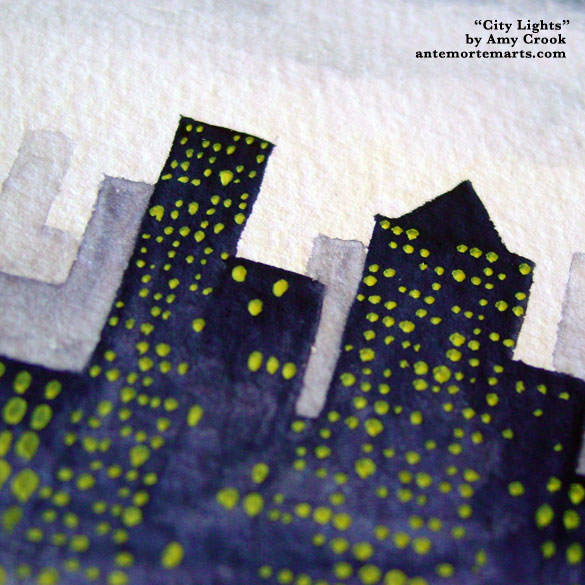 City Lights, detail, by Amy Crook