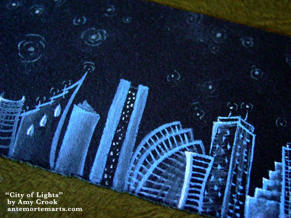 City of Lights, detail, by Amy Crook