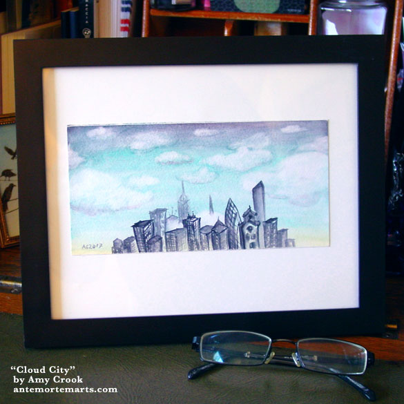 Cloud City, framed art by Amy Crook