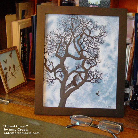 Cloud Cover, framed art by Amy Crook