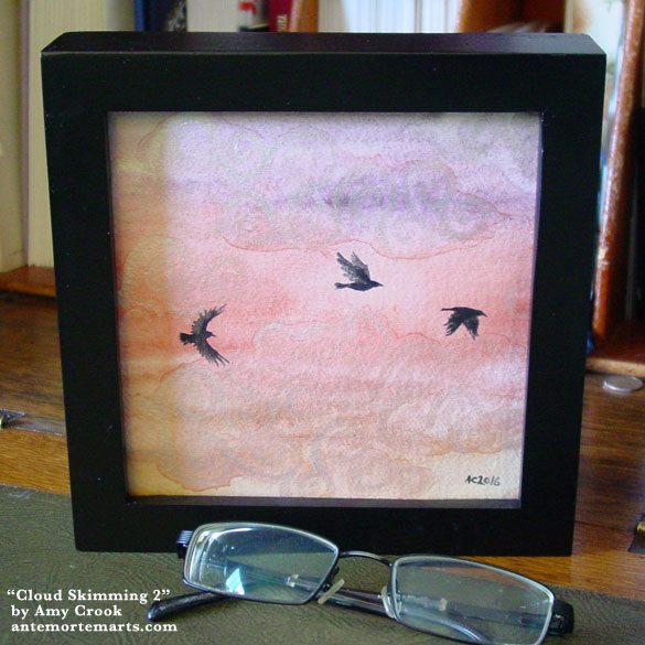Cloud Skimming 2, framed art by Amy Crook