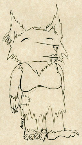 There Wolf, sketch by Amy Crook