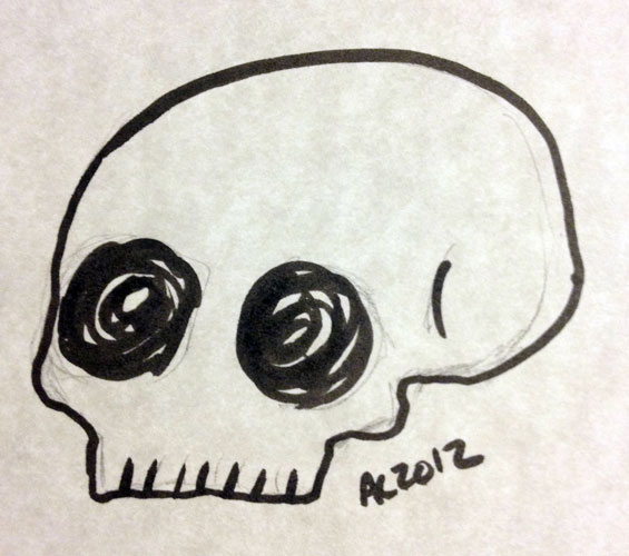 Skully sketch by Amy Crook
