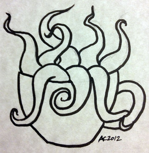 Cuppa Tentacles sketch by Amy Crook